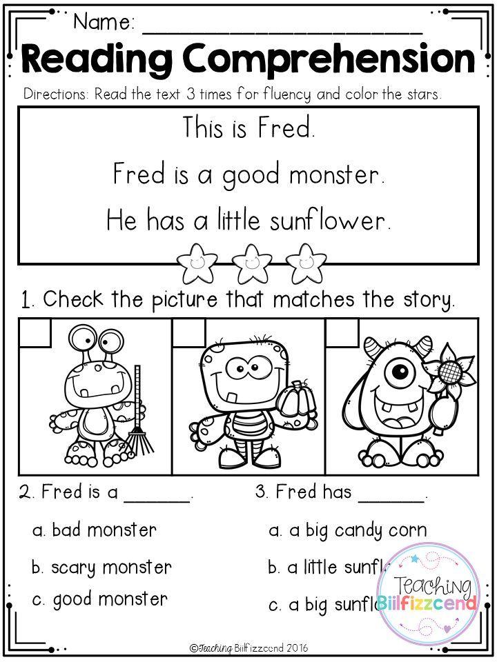 Free Kindergarten Reading Comprehension Halloween Edition Reading Comprehension Kindergarten Kindergarten Reading Free Kindergarten Reading