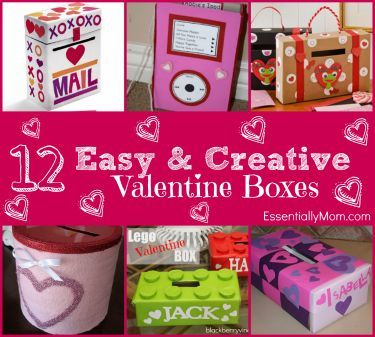 Easy & Creative Valentine Boxes for School | Box, Easy and Creative
