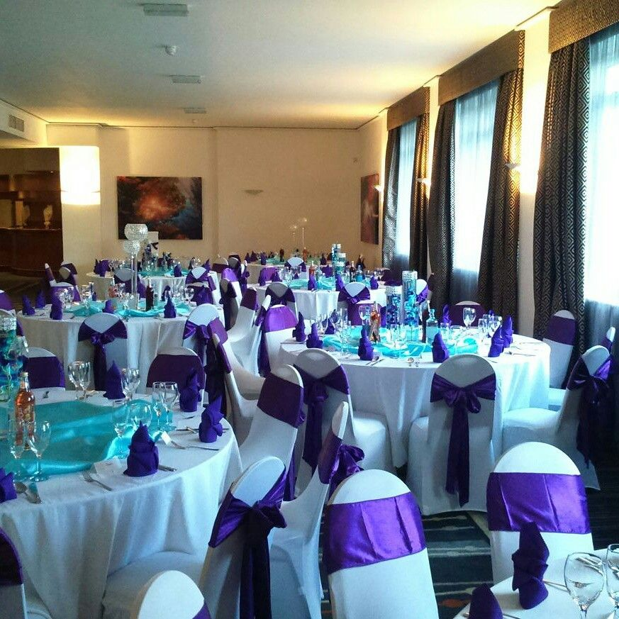 Purple And Tiffany Blue Wedding Decoration Boda De Mi Sueos