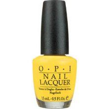 """I don't usually paint my nails, but I'm pretty pumped about this yellow nail polish . . . even though my grandmother says it's """"hideous."""""""