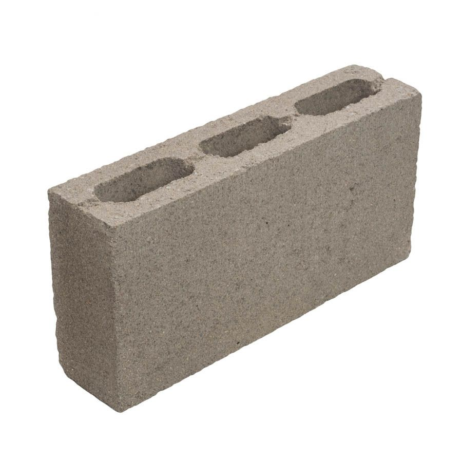 Standard Cored Concrete Block Common 4 In X 8 In X 16 In Actual 3 625 In X 7 625 In X 15 625 In Breeze Blocks Concrete Blocks Concrete Block Retaining Wall