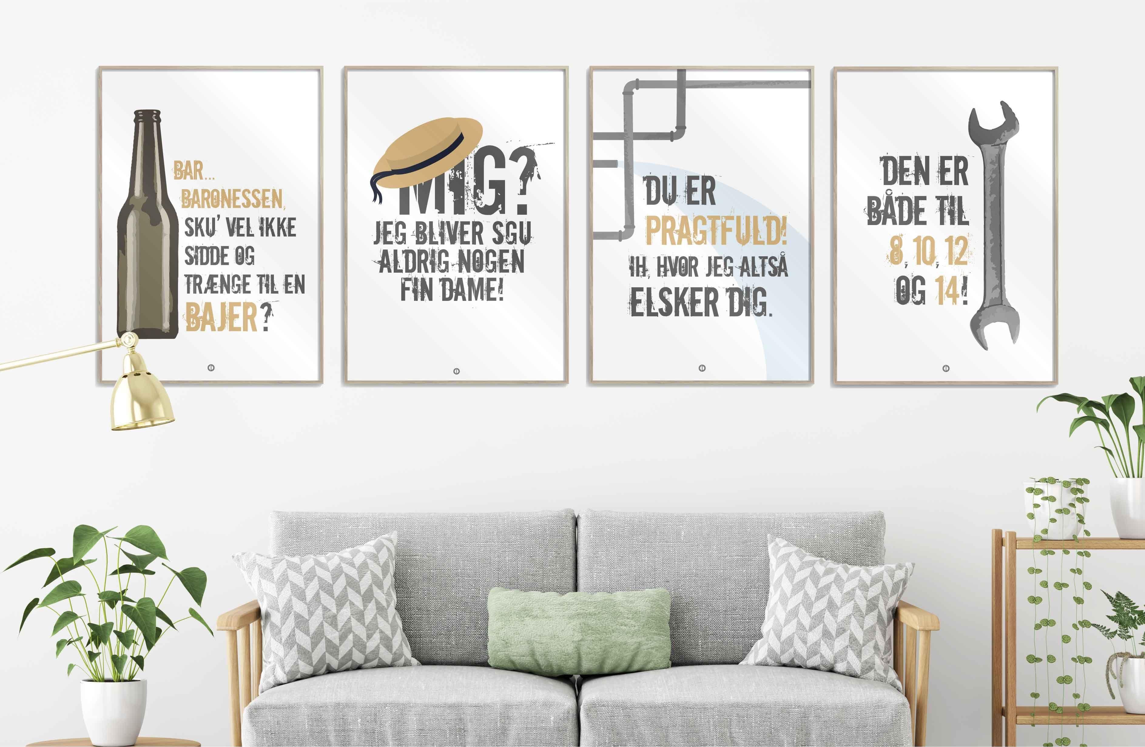 21272822308 Stilet Citatplakater i serien GRAFISK, Baronessen fra Benzintanken! Find  plakaterne og mange andre sjove