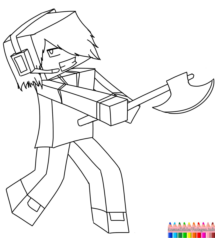 Minecraft Deadlox Ausmalbilder Malvorlagen Minecraft
