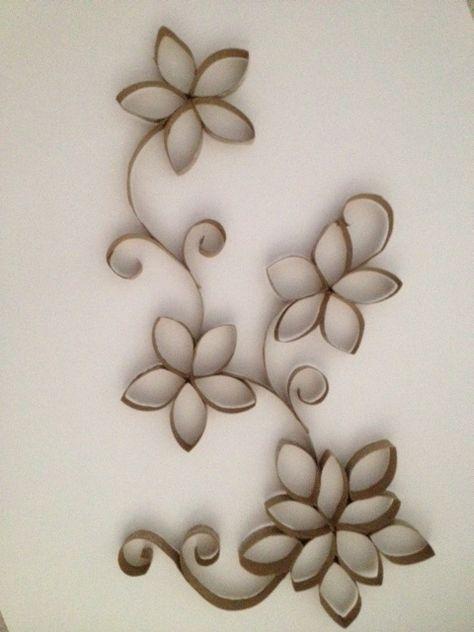 Toilet Paper Roll Wall Art | Crafts | Pinterest | Paper roll art ...