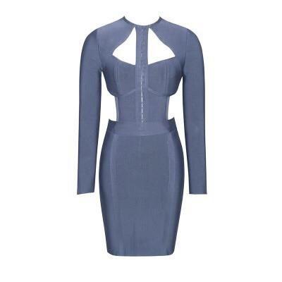 pin on grey bandage dresses