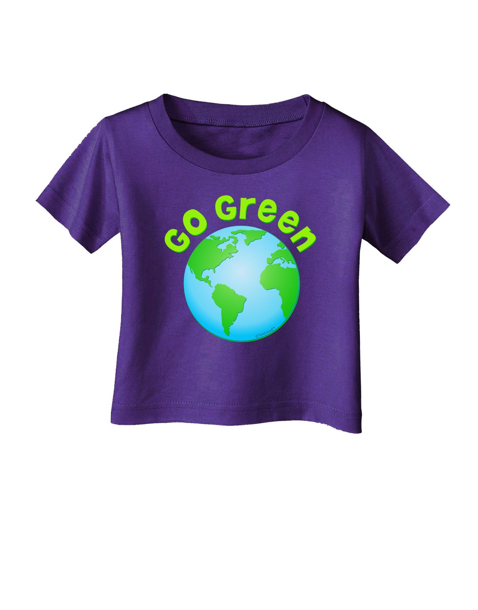 TooLoud Go Green - Planet Earth Infant T-Shirt Dark