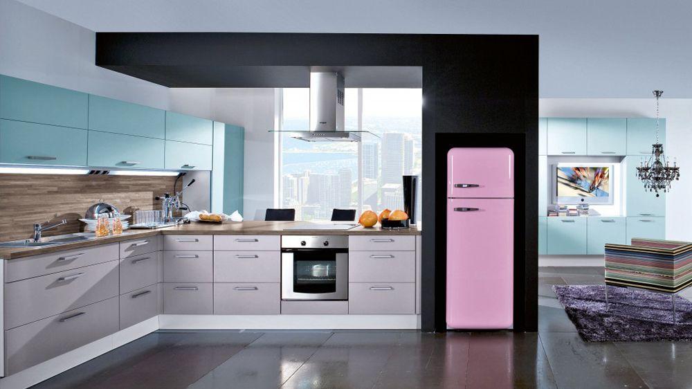 Cuisine Rose Du Rose Dans La Déco Pinterest Cuisines Roses - Acheter une cuisiniere electrique pour idees de deco de cuisine