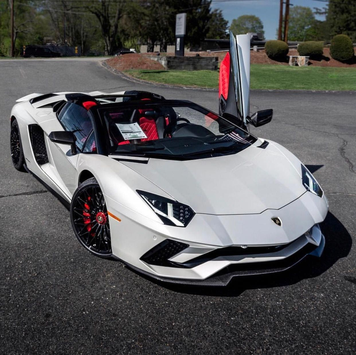 Cars Lamborghini: Lamborghini Aventador S Roadster Painted In Balloon White