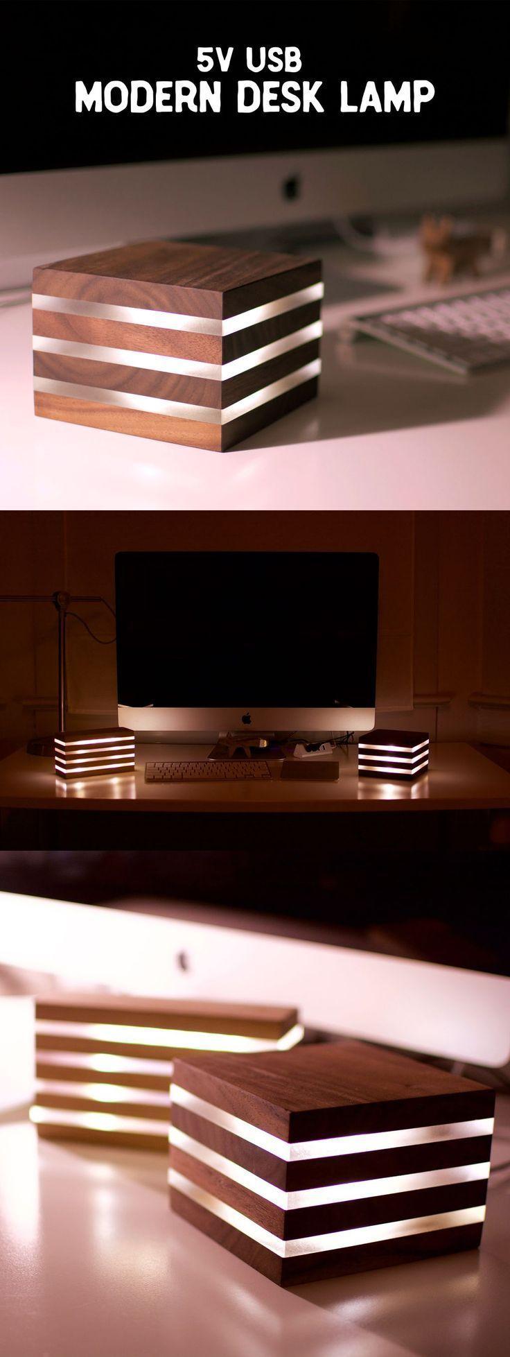 Photo of Moderne LED-Schreibtischlampe … Stromversorgung über 5V USB