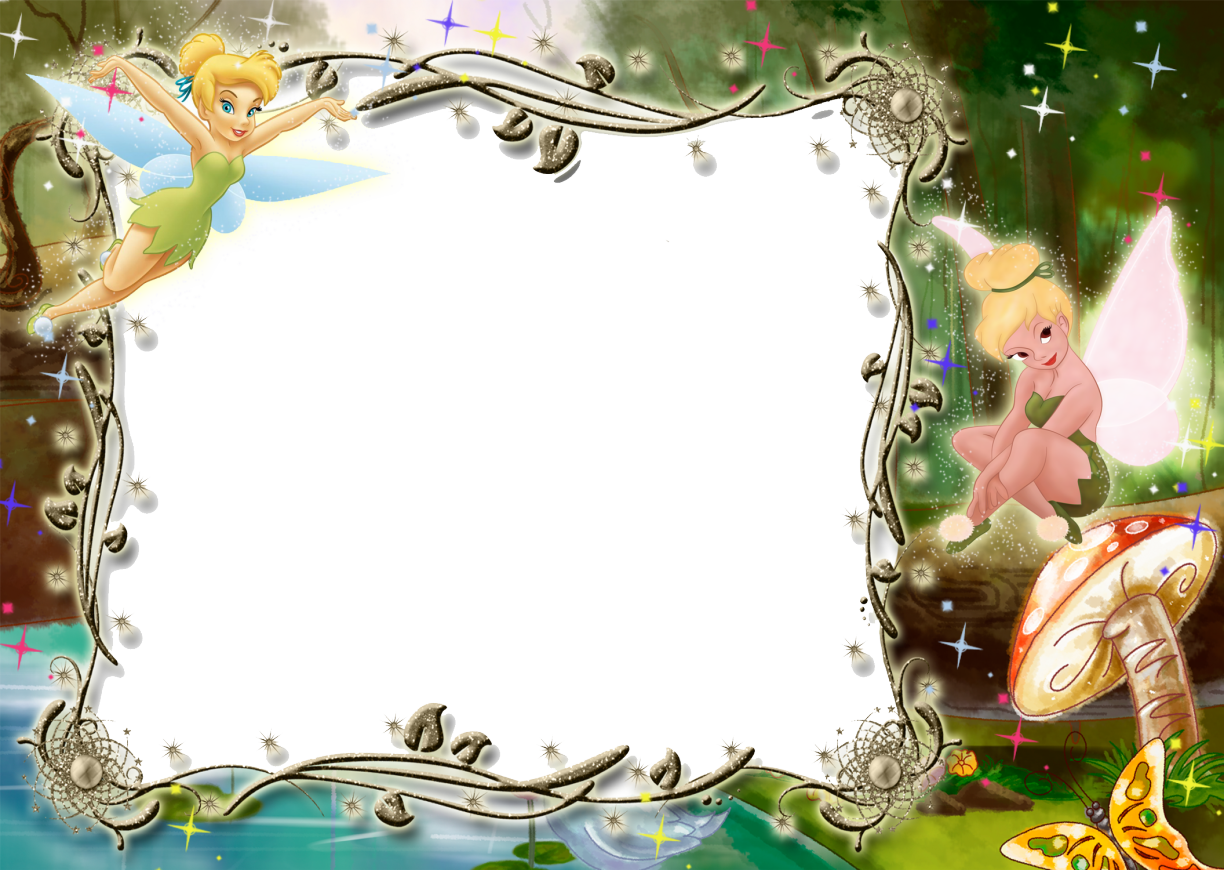 Kids Transparent Photo Frame With Tinkerbell Disney Frames Tinkerbell Invitations Photo Frames For Kids