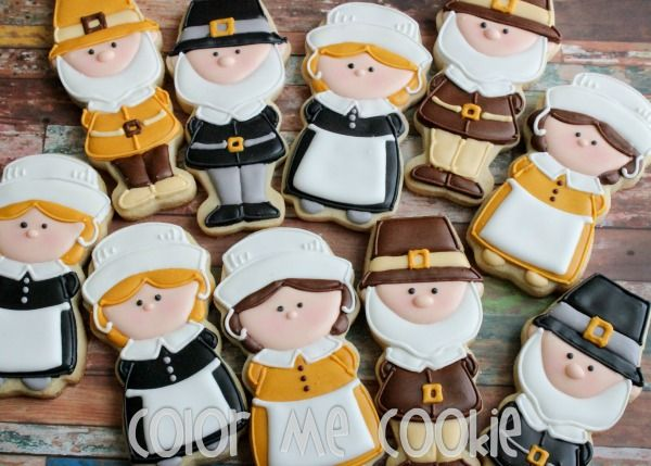 Decorated Pilgrim Cookies with Color Me Cookie {Guest Post}