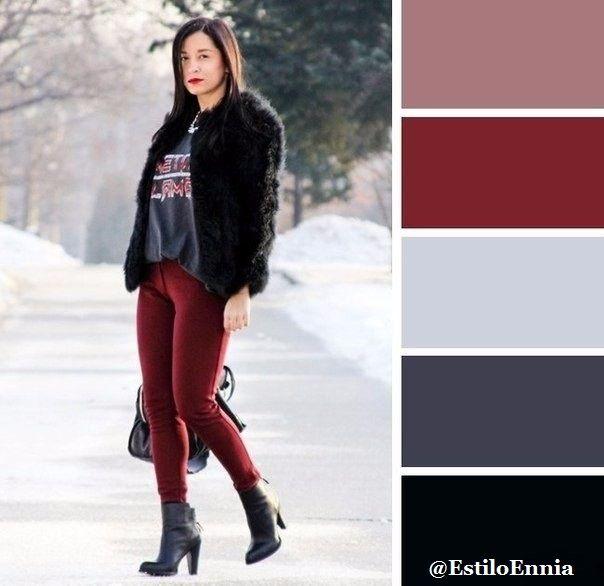 Combinación de colores... Chicas, guardamos para no perder | Moda y ...