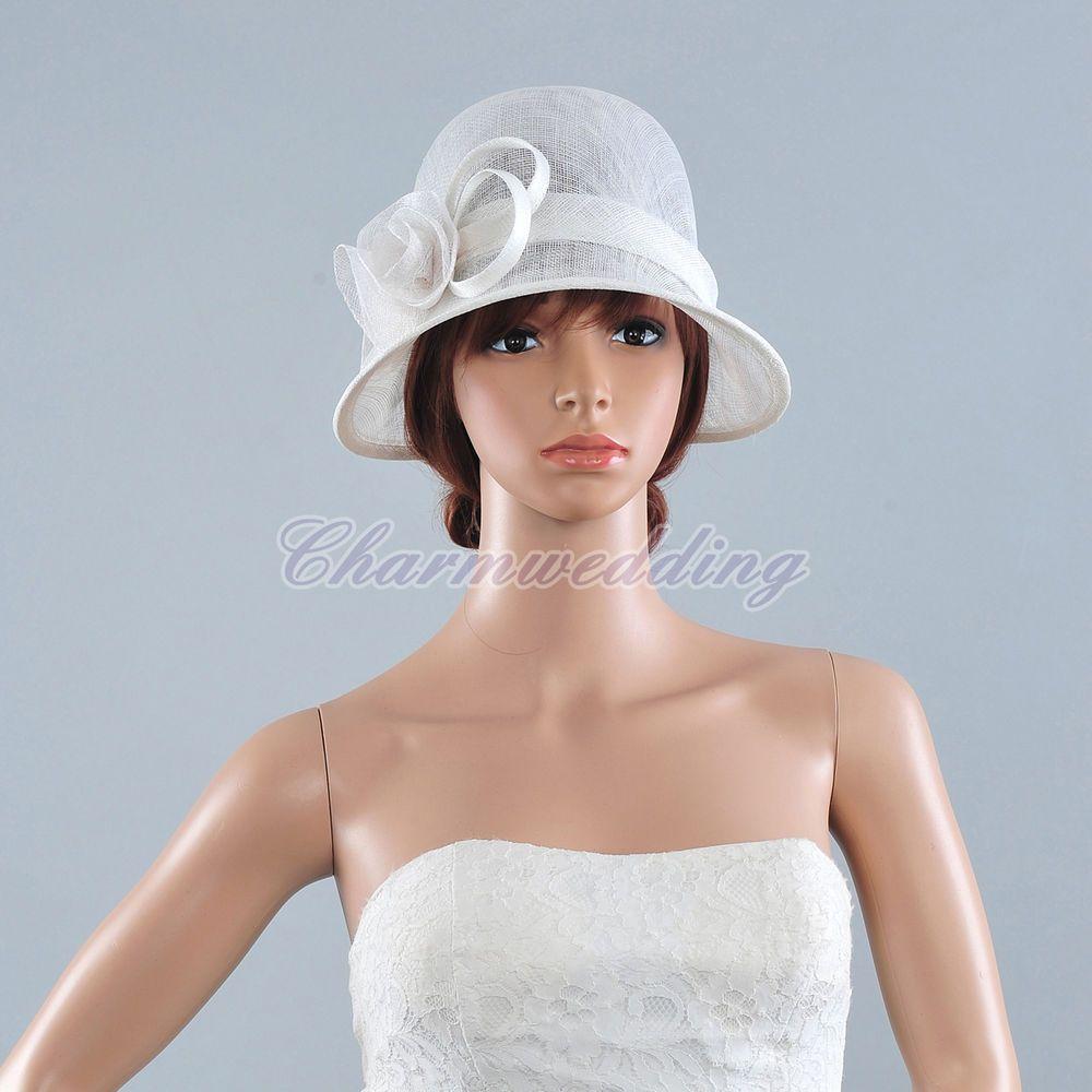 Lady Church Hat Kentucky Derby Hat wedding Sinamay Ascot Cloche ...