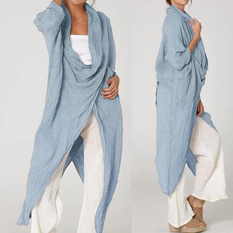 Photo of 739.84руб. 35% СКИДКА|Женская винтажная длинная рубашка с воротником хомутом, свободная Асимметричная блузка с длинным рукавом, большие размеры, модель 2020|Блузки и рубашки| |  – AliExpress