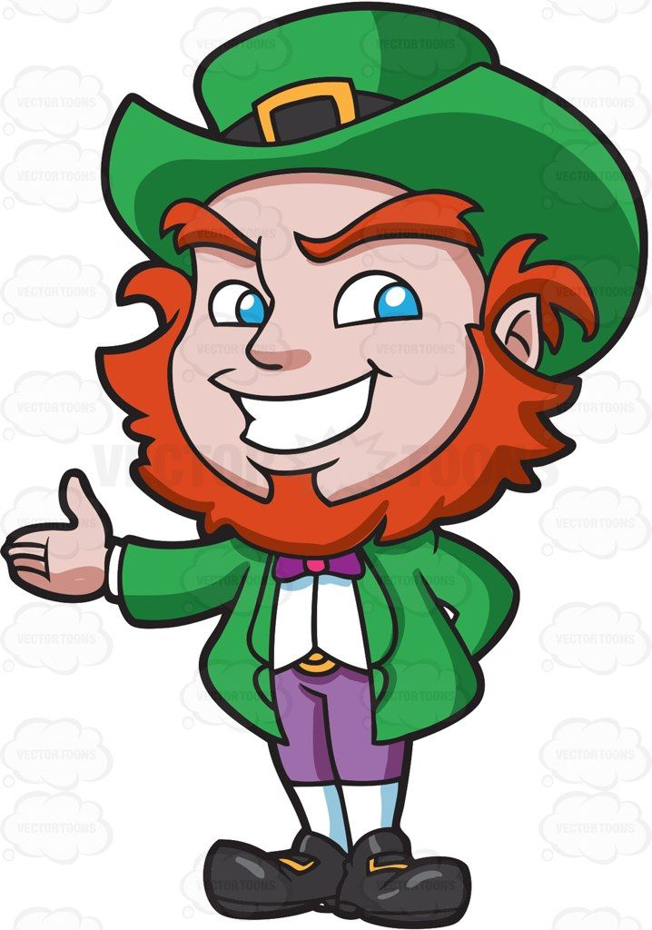 A friendly and warm leprechaun #cartoon #clipart #vector # ...