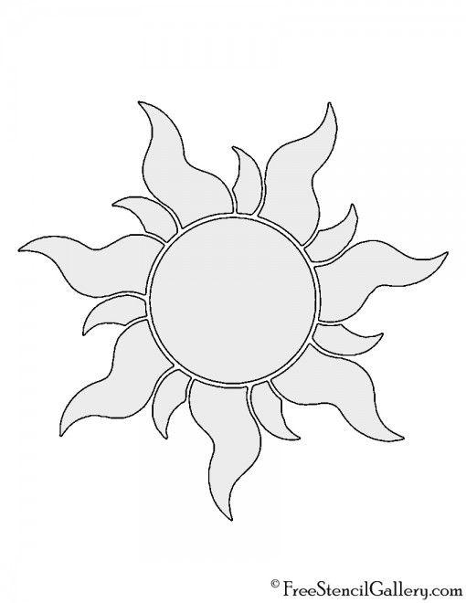 Tangled Sun Stencil Tattoo Stencil Outline Tangled Sun Sun Drawing