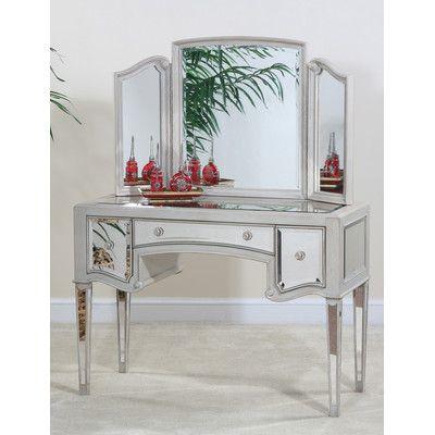 Ultimate Accents Manhattan Vanity With Mirror   Wayfair