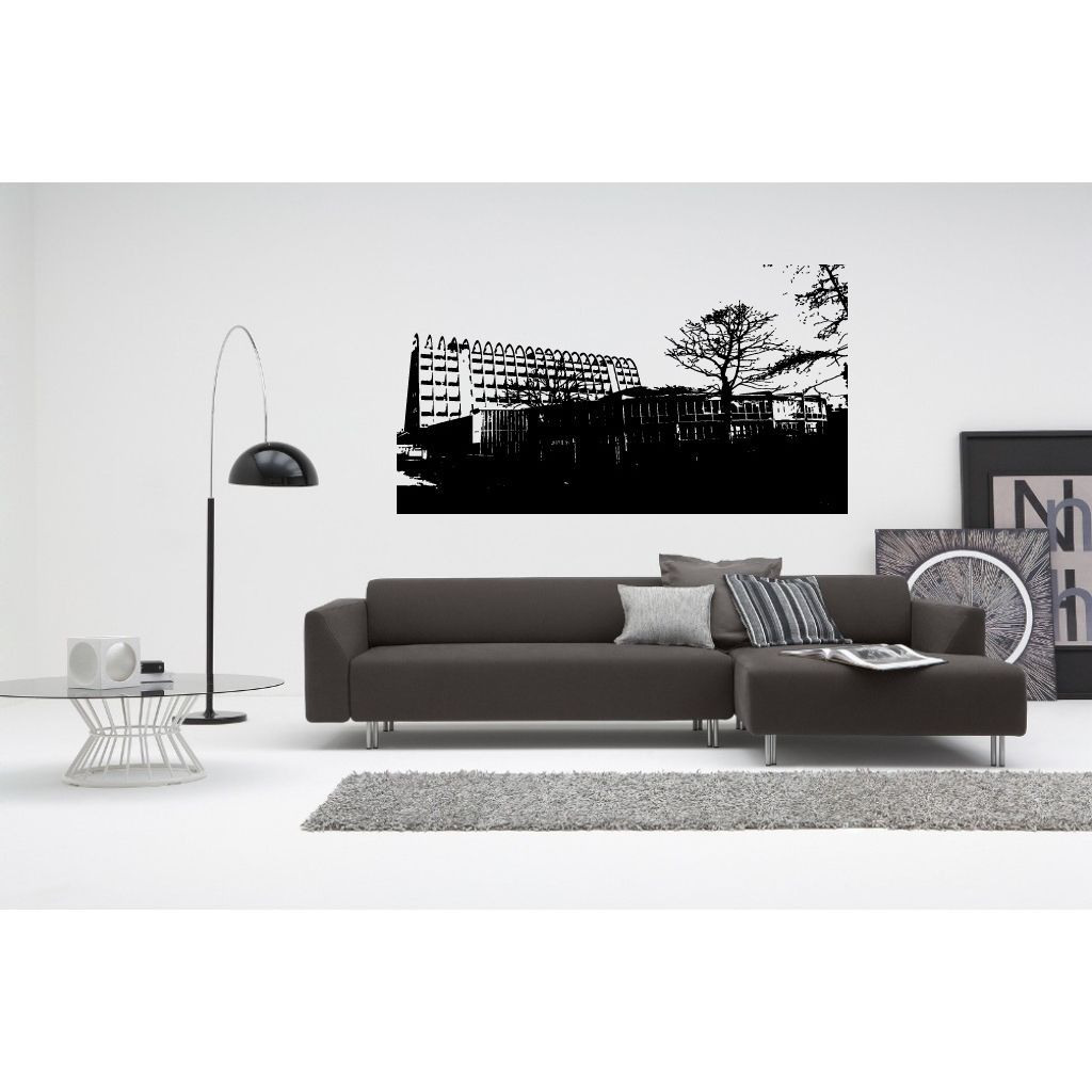 Manchester City Landscape of Modernity Wall Art Sticker Decal | Yoga ...