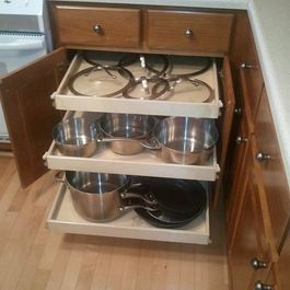 pull out shelf cabinet for pots and pans - Yahoo! Search ...