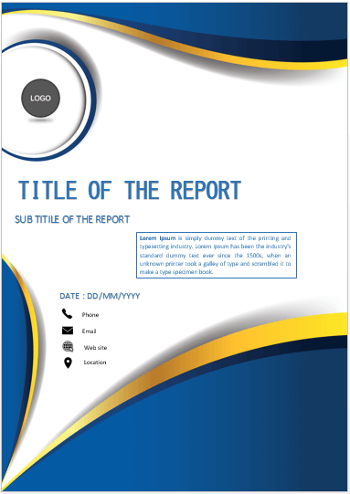 Cover Page Blue Elegant Cover Page Cover Pages Book Cover Page Design Cover Page Template Word Cover Pages