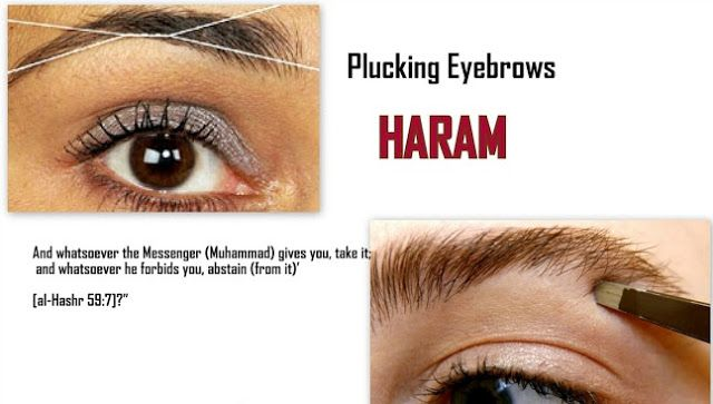 ISLAMIC QUOTATIONS: Ruling on Plucking Eyebrows   Quran