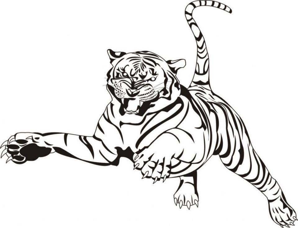 Dibujos De Tigres De Bengala Para Colorear En 2020 Con Imagenes