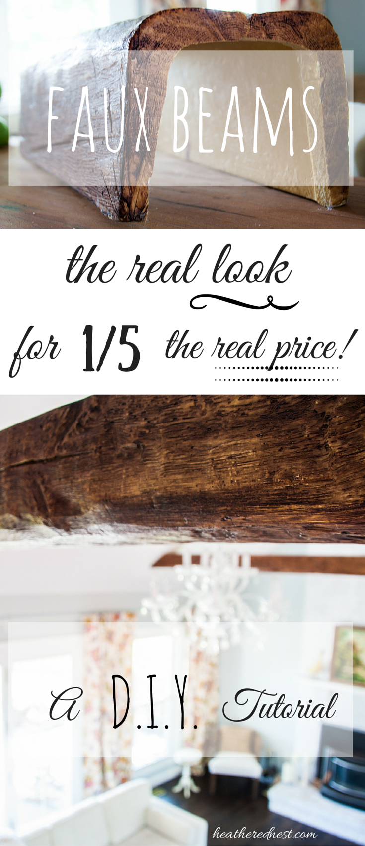 How to Install Faux Beams | Faux beams, Beams and Nest