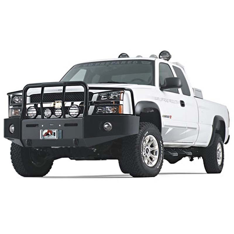 Warn Chevy Black Bumper With Grill Brush Guards Winch Bumpers