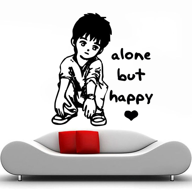 Alone But Happy Hd Wallpaper And Quotes Free Download Daungy All