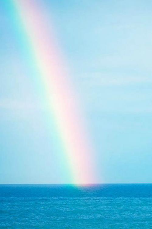 Rainbow at Sea - By: (Deceptive Media)