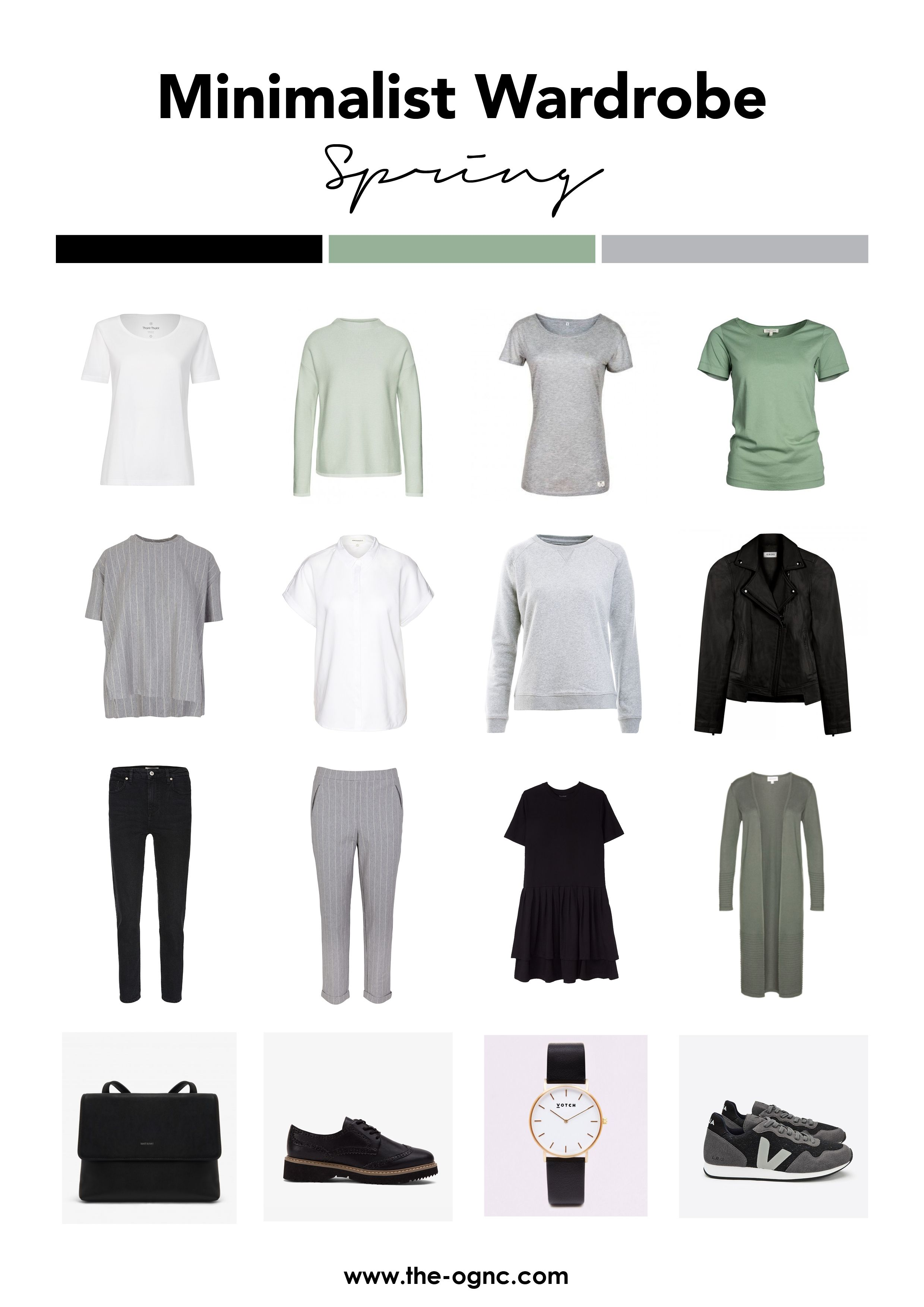 Minimalistische Garderobe für den Frühling #travelwardrobesummer