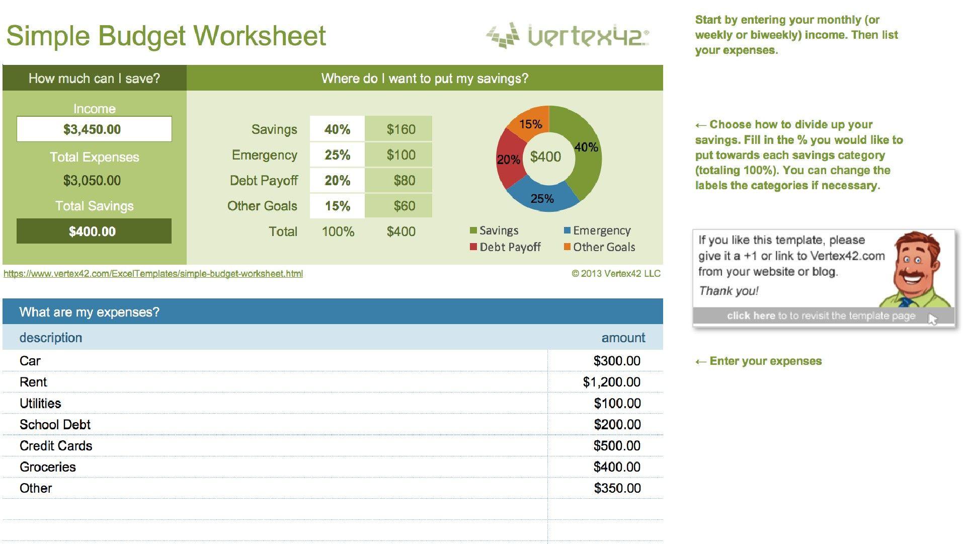 Unique Basic Budget Spreadsheet Exceltemplate Xls