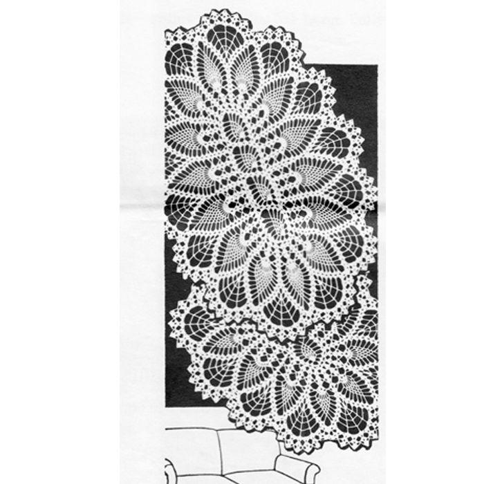 Crochet Oval Pineapple Doily Pattern Design 577 Crochet Dollies