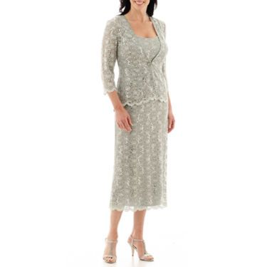 2862daee865 Mother of the Bride Dress R M Richards Lace Jacket Long Dress - JCPenney
