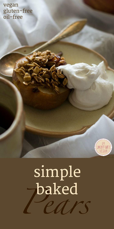 Simple Vegan Baked Pears