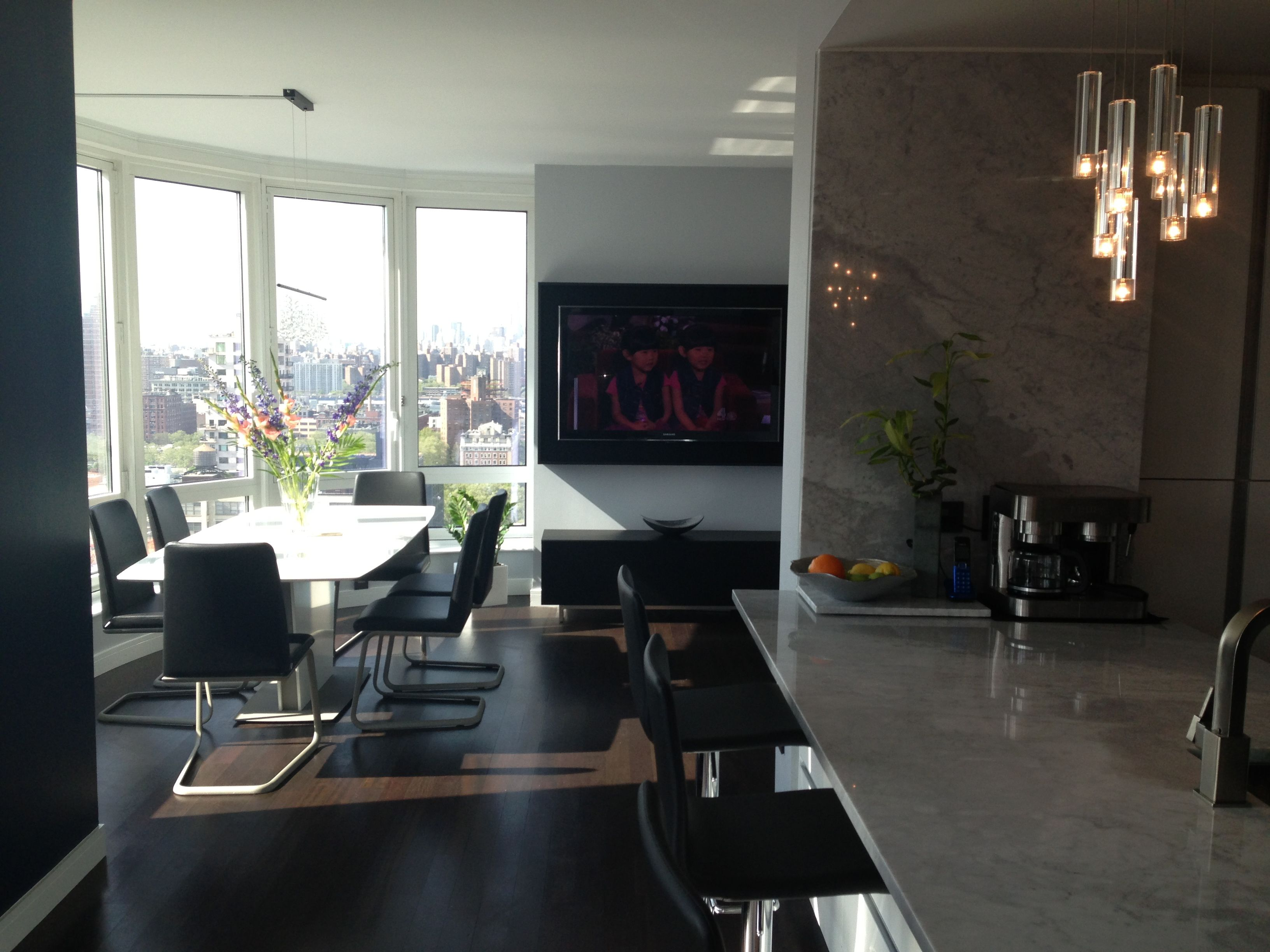Downtown Brooklyn NY condo Kitchen and Dining area by BoConcept