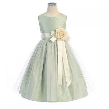 New White Vintage Satin Tulle Girls Dress First Communion Wedding Formal 402