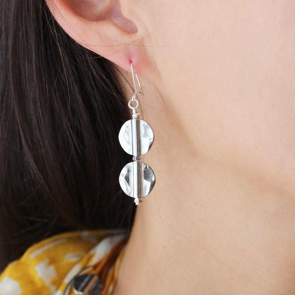 Lizzy James Double Hammered Earrings