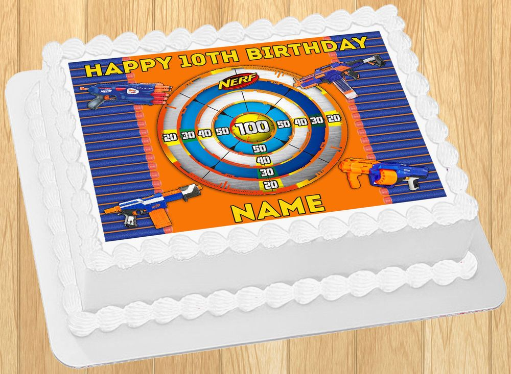Excellent Feste Besondere Anlasse 11 Pack Nerf Gun Candles Birthday Cake Personalised Birthday Cards Veneteletsinfo