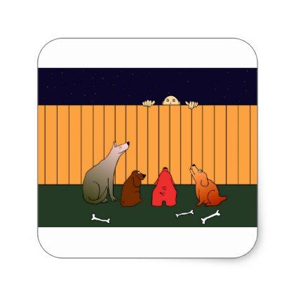 At The Bad Time On The Bad Place Square Sticker - humor funny fun humour humorous gift idea