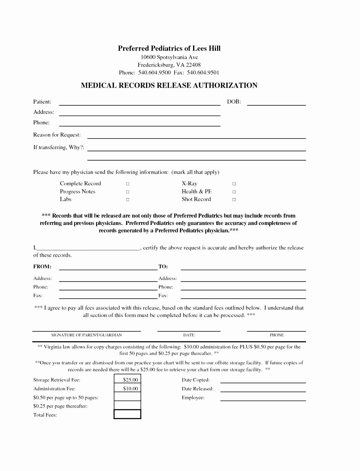 Standard Media Release Form Template Inspirational 6 Standard Release Form Template Uirit Doctors Note Template Templates Medical Record