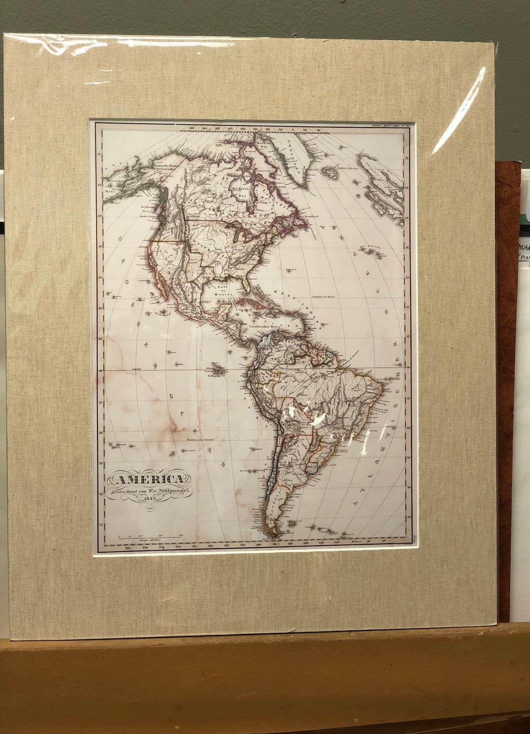 America Map Ready For Framing! Bonrics Custom Framing and Gallery ...
