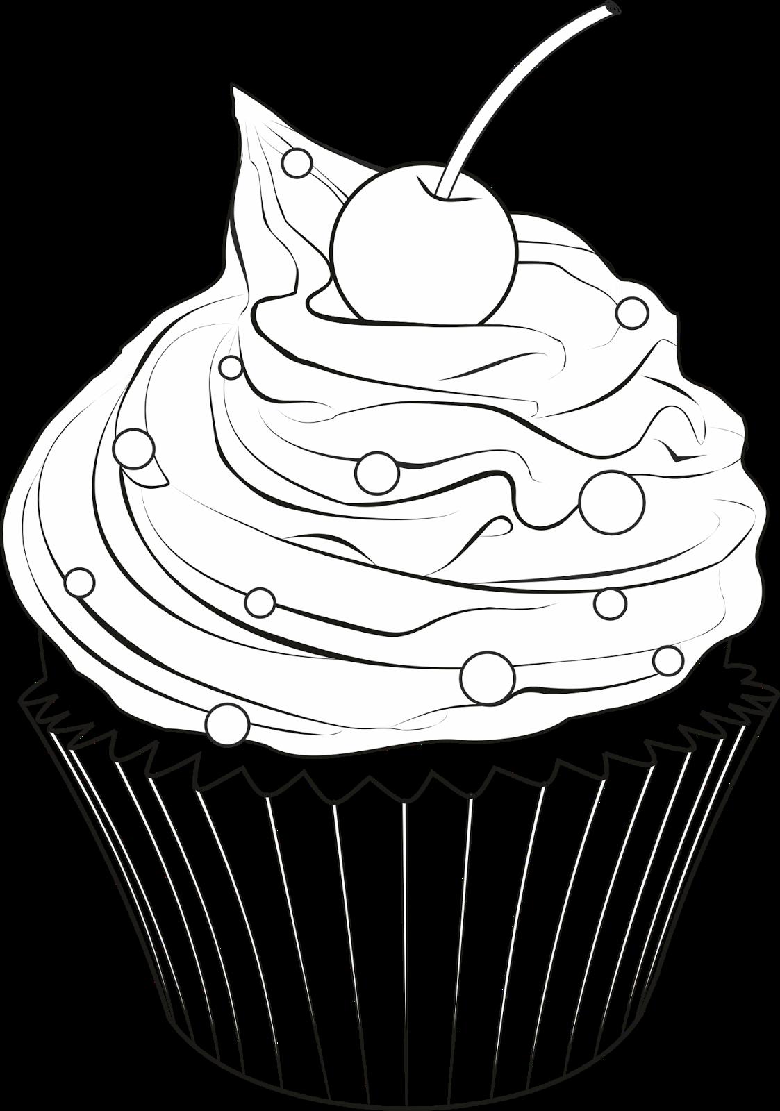 Картинка раскраска кекс