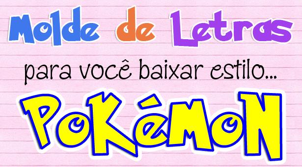 Baixe 2 tamanhos de molde de letras e números estilo Pokémon para artesanato com patch aplique, EVA ou feltro. Moldes em tamanho natural. Acesse o site!