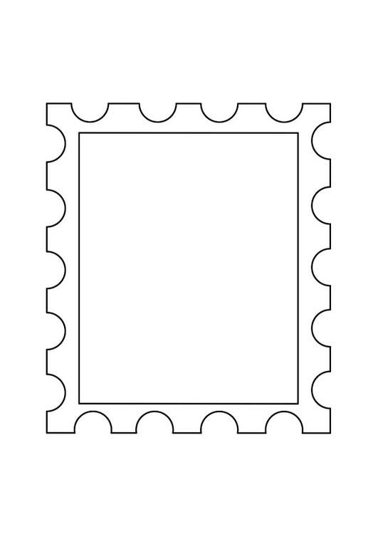 Coloring Page Postage Stamp 2 Coloring Picture Postage Stamp 2