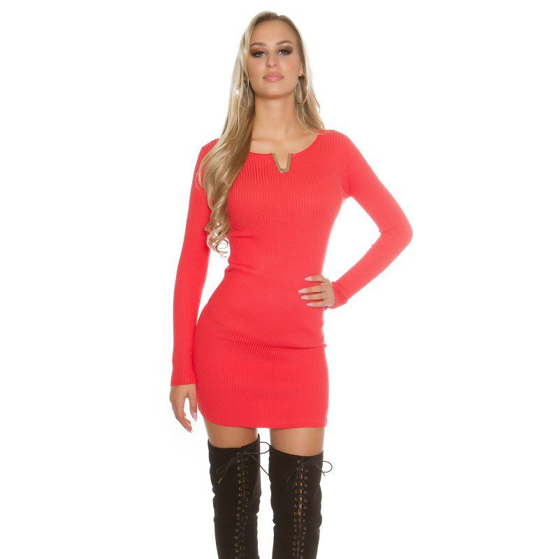 Dámske úpletové šaty KouCla  3ec662d779