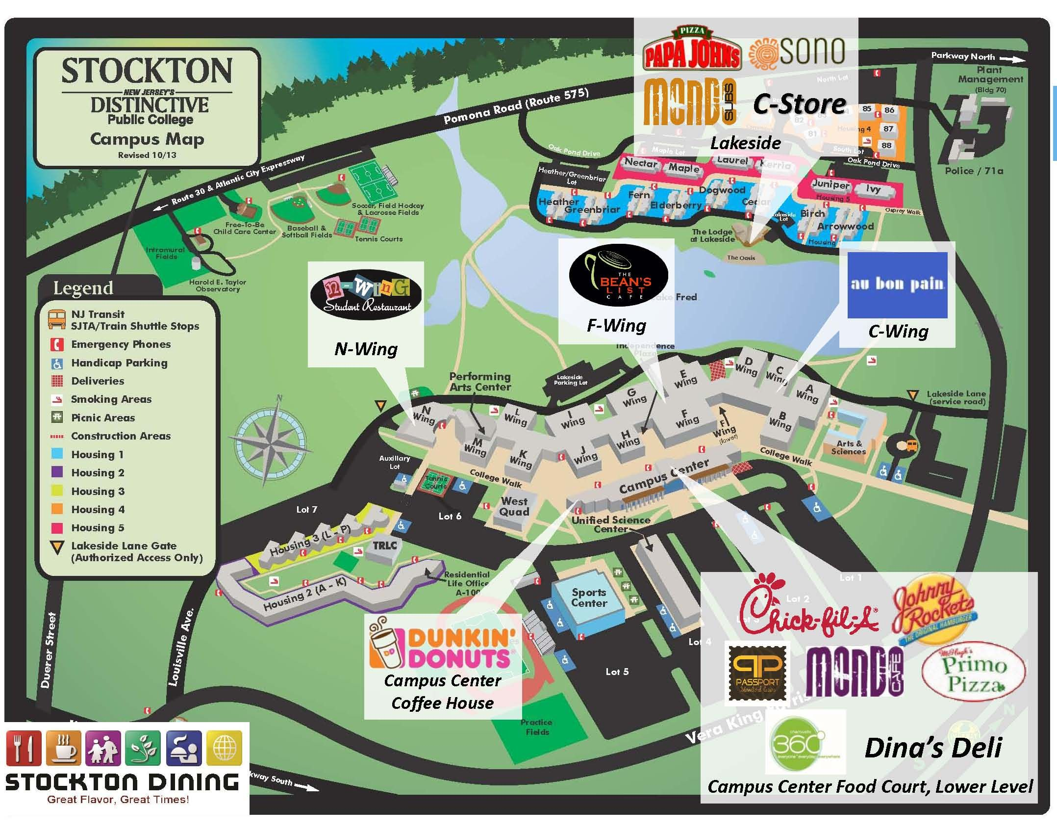 stockton college campus map Welcome To Dineoncampus At Richard Stockton College By Chartwells