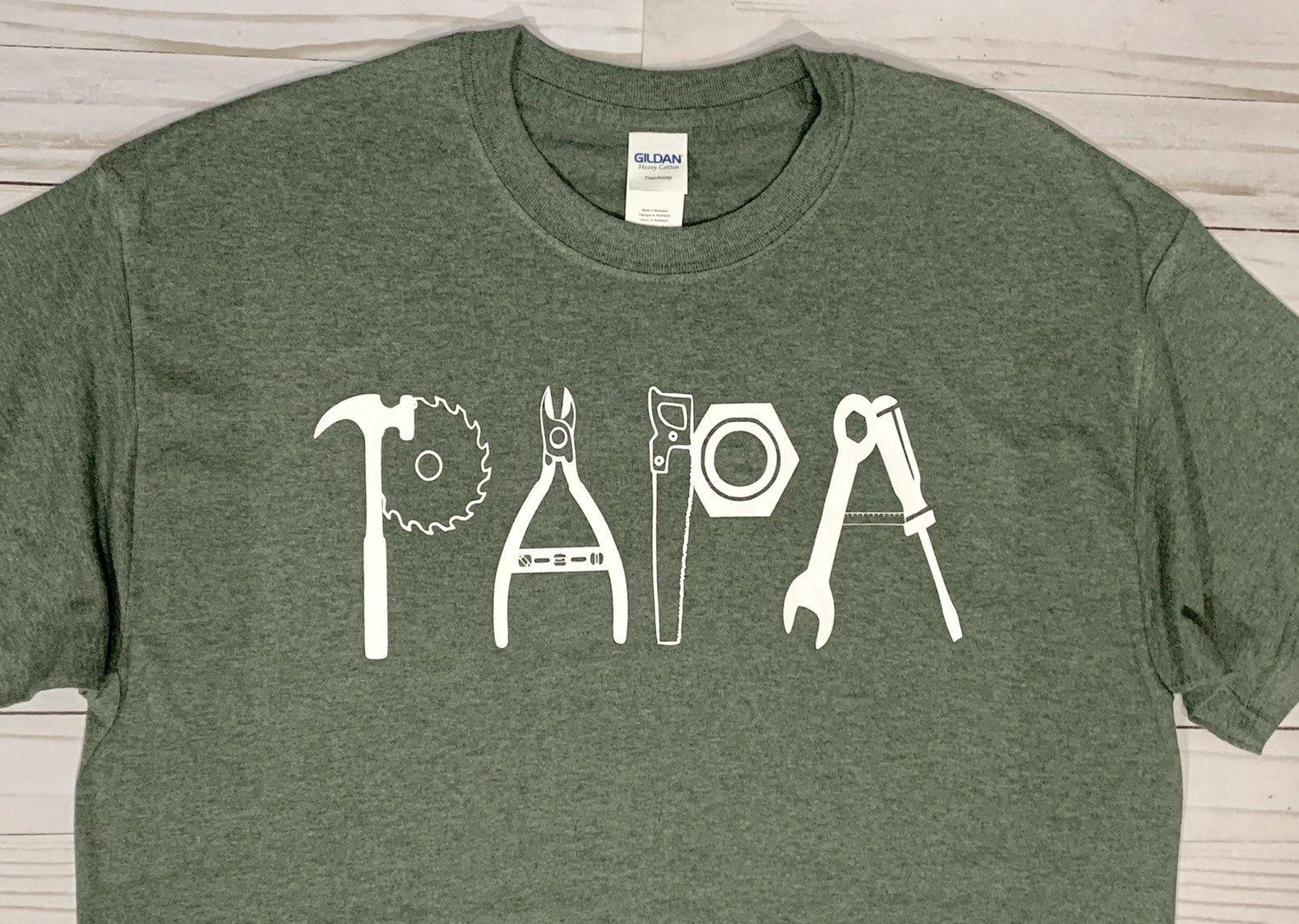 PAPA tools t-shirt / Handyman Papa shirt / Father's Day Papa shirt #papashirts