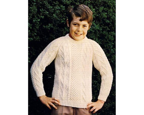 Childs Irish sweater pattern, fisherman knit, knitting, tree of life ...