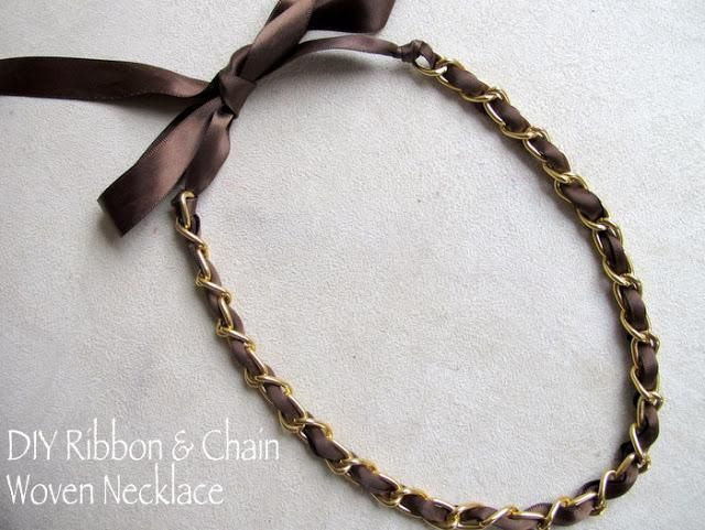 Diy designer inspired ribbon and chain necklace in 4 easy steps do diy designer inspired ribbon and chain necklace in 4 easy steps solutioingenieria Image collections